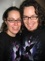 Josh & Liz in Leopard Ts